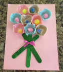 egg carton flower bougquet craft