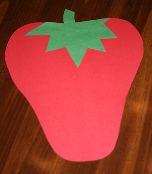 strawberry card craft