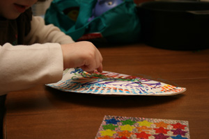 paper plate musical instrument craft