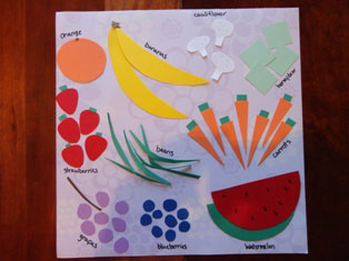 numbers placemat craft
