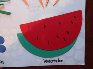 cardstock watermelon craft