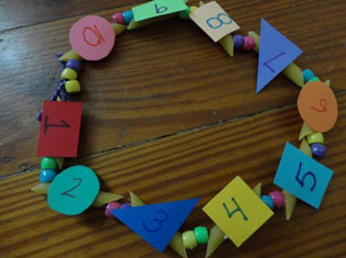 numbers necklace craft