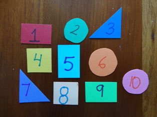 numbers and shapes paper