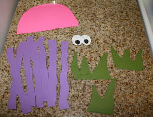 octopus counting craft materials