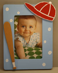 Baseball Picture Frame Craft All Kids Network