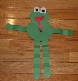 jumpy frog craft