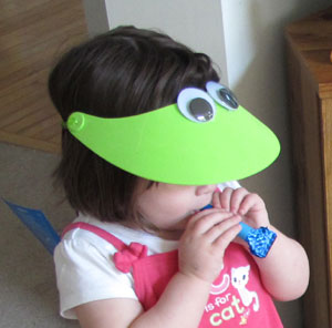 kids frog hat craft