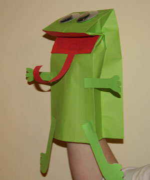 paper bag frog craft