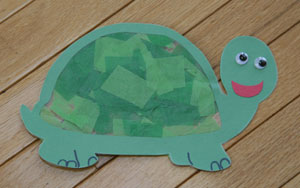 sun catcher turtle craft