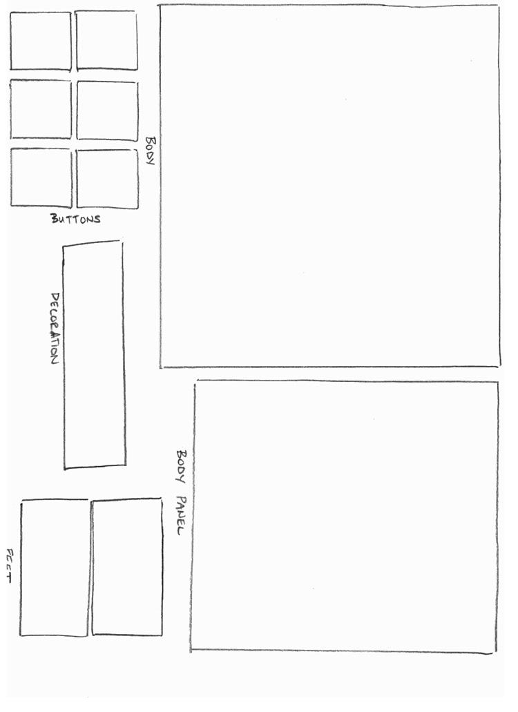 paper robot template. Black Bedroom Furniture Sets. Home Design Ideas