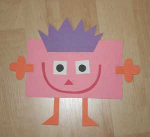 kids rectangle shape craft