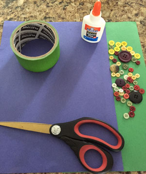 button flowers craft materials