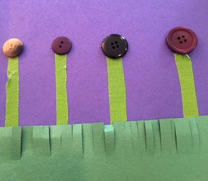 button flowers craft step 3