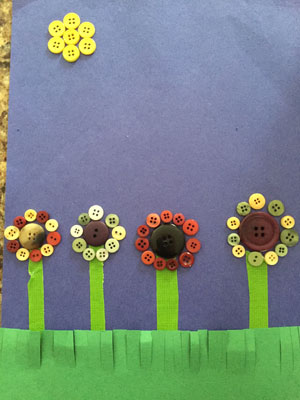 button flowers craft