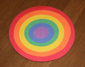 rainbow craft step 3