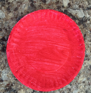paper plate flower craft step 2