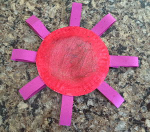 paper plate flower craft step 6
