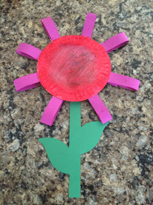 paper plate flower craft