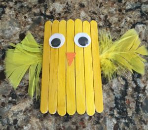 popsicle stick chick craft step 5
