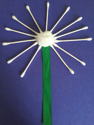 q tip pussy willow craft step 3