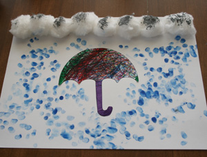 kids rainy day craft