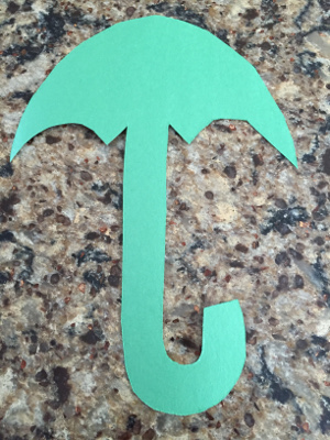 rainy day umbrella craft step 1