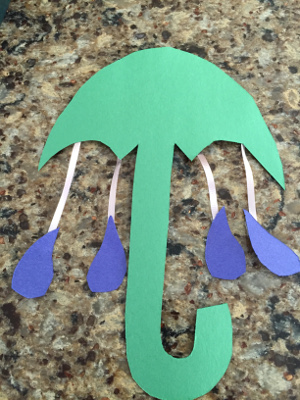 rainy day umbrella craft step 4