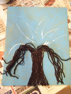 spring button tree craft step 4
