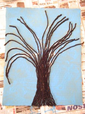 spring button tree craft step 5