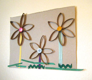 spring flowers craft for kids