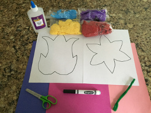 tissue paper flower craft materials