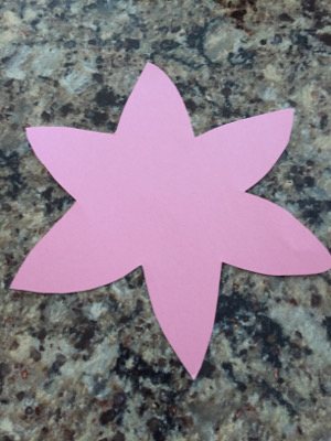tissue paper flower craft step 1
