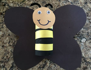 paper roll bumble bee craft