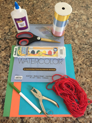 watercolor kite craft materials