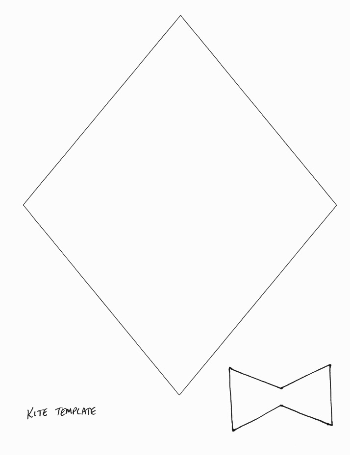 spring crafts print your kite template all kids network