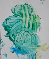 Finger paint shamrock toddler version
