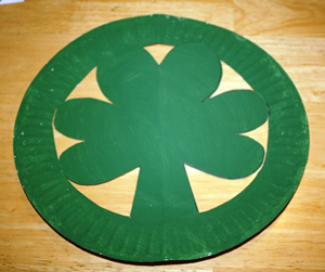 st. patrick's day shamrock hat craft