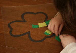 kids shamrock craft