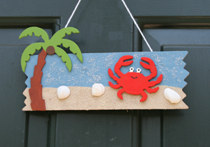 beach door hanger craft