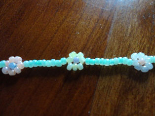flower bracelet craft