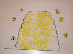 bubble wrap beehive craft