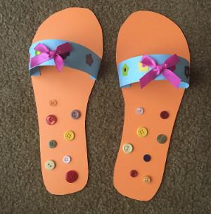 Flip flops craft all kids network for Flip flops for crafts