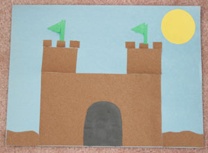 sandpaper sandcastle craft