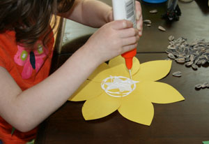 sunflower seeds craft