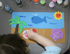 toddler beach craft