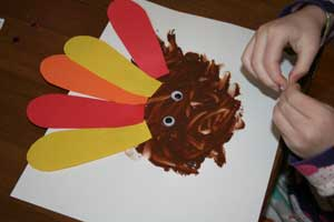 pudding turkey craft eyes