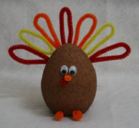 styrofoam turkey craft