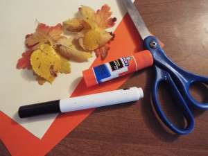 thanksgiving place card craft materials