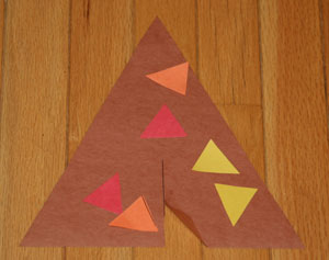 triangle teepee craft