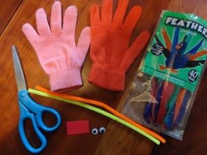 turkey hand puppet craft materials